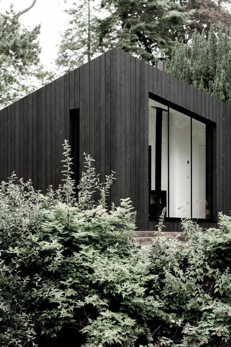 black wood via dezeen
